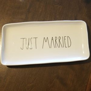 Rae Dunn Just Married tray